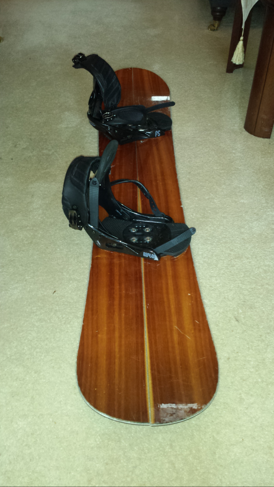 Board cut, old bindings remounted